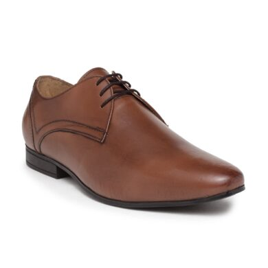 genuine leather formal derby shoes