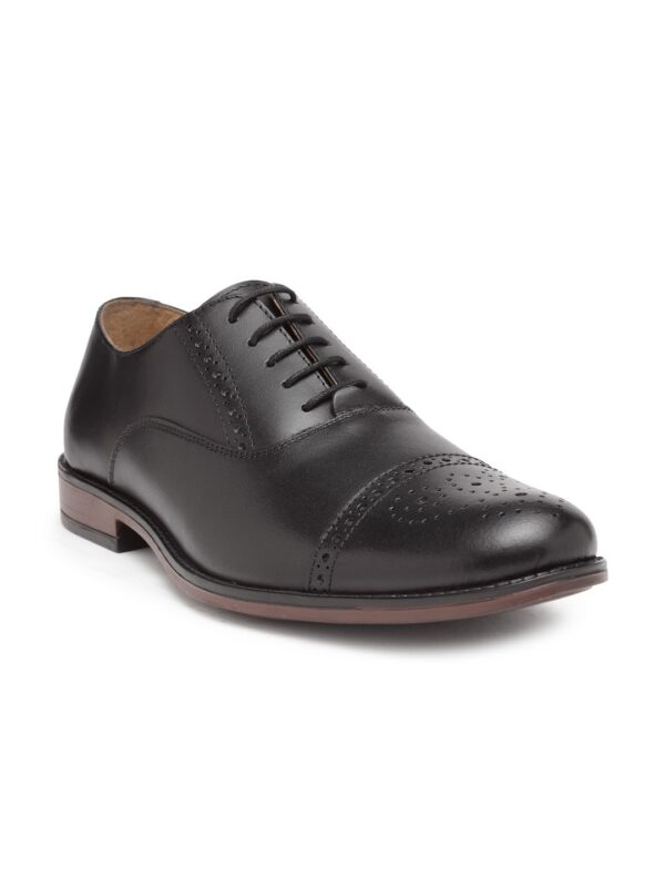 Leather Oxford Shoes with Brogues
