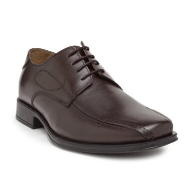 dark brown leather derby shoes